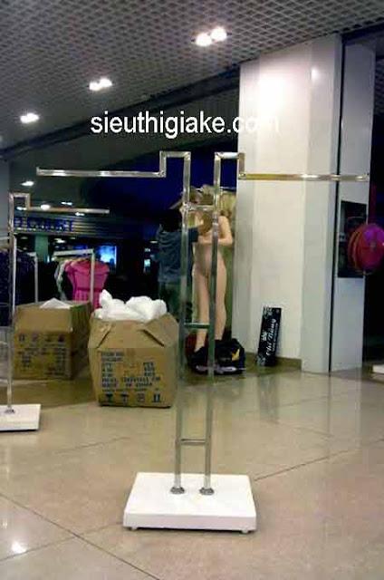 Giá treo inox thời trang 2 góc