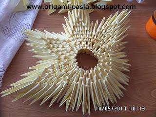 hostia origami modułowe, 3d, jak zrobić, rękodzieło, na prezent, tutorial, schemat, opis, diy, kurs,
