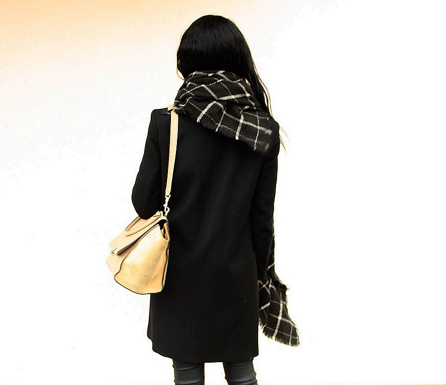 sac celine trapeze manteau look all black blog mode