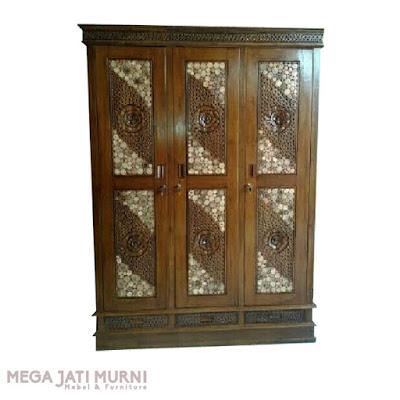 Almari jati, almari pakaian, lemari baju, lemari minimalis, almari sudut, asli kayu jati jepara, dijamin murah,