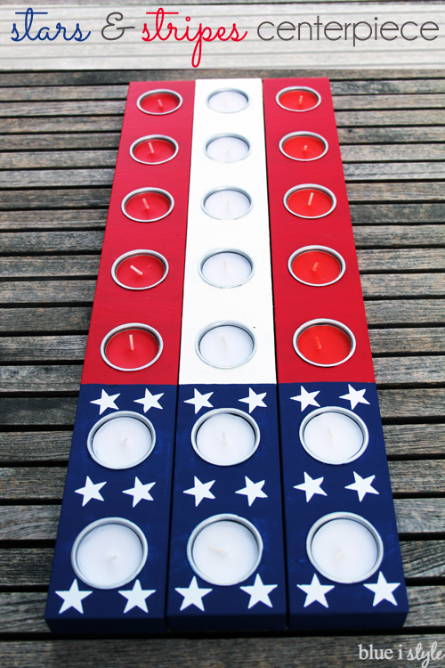 4th of July Stars and Stripes American Flag Patriotic Centerpiece Decor