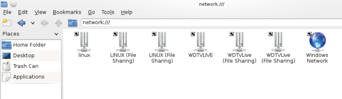 Access WD TV Live storage in Linux