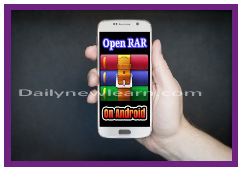 How To Open And Extract Rar Files On Android With Pictures Daily