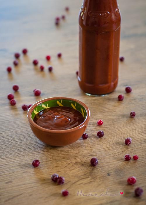 Preiselbeer-BBQ-Sauce