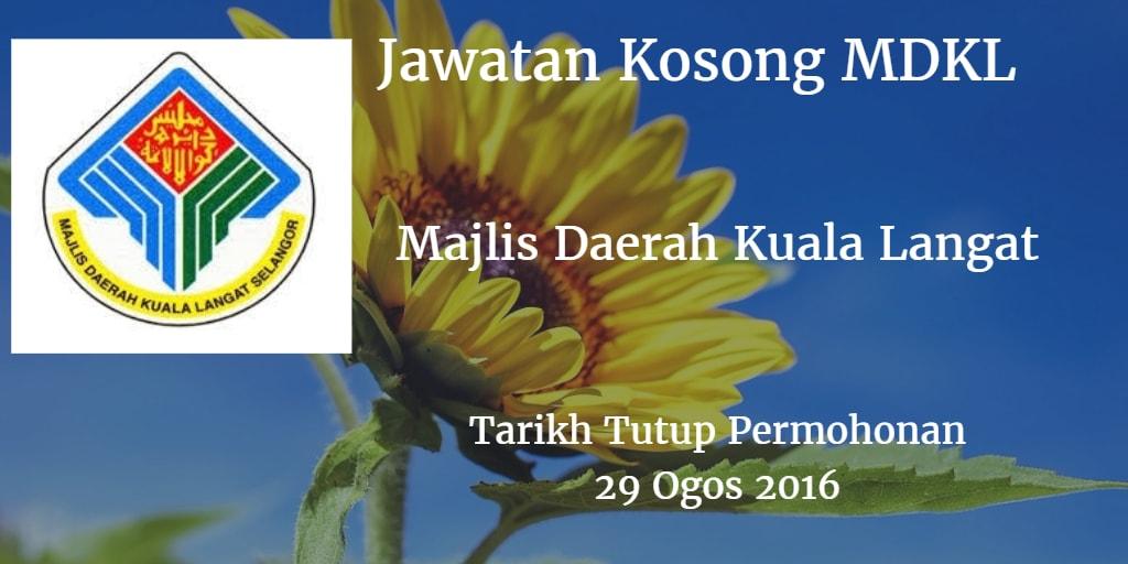 Jawatan Kosong MDKL 29 Ogos 2016