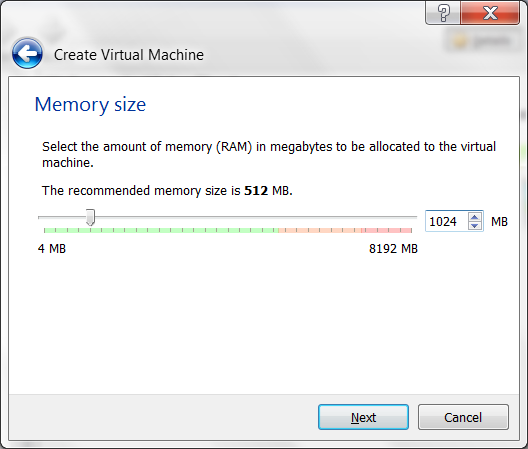 virtualbox screenshots ram memory