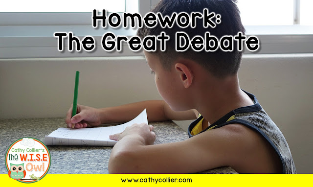 Homework is a hot topic.  Here are two options that allow for independent practice AND student choice.  It's just one idea for homework.