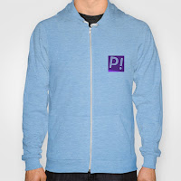 Blue Hoodie with Logo on Front