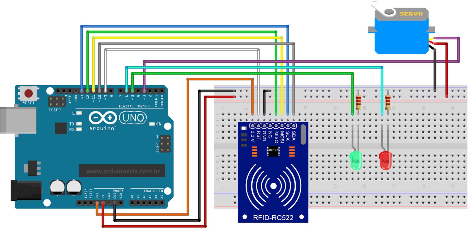 Controle de acesso com módulo rfid rc arduino e cia