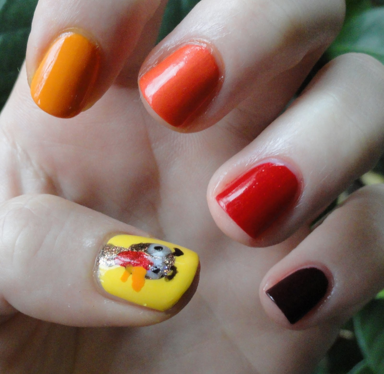 Prettyfulz Fall Nail Art Design 2011: Elemental Styles: Fall Nail Art