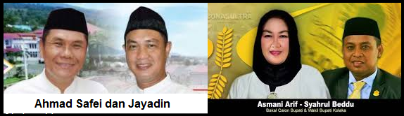 Dua pasang calon Bupati dan wakil Bupati Kabupaten Kolaka 2018