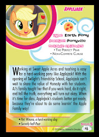 My Little Pony Applejack Series 5 Trading Card