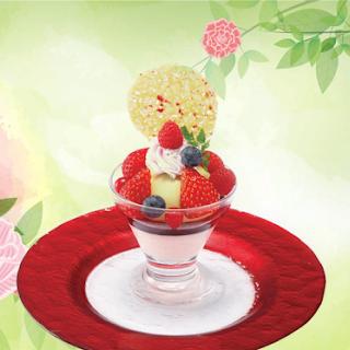 苺とピスタチオの アイスパフェ(2019春)