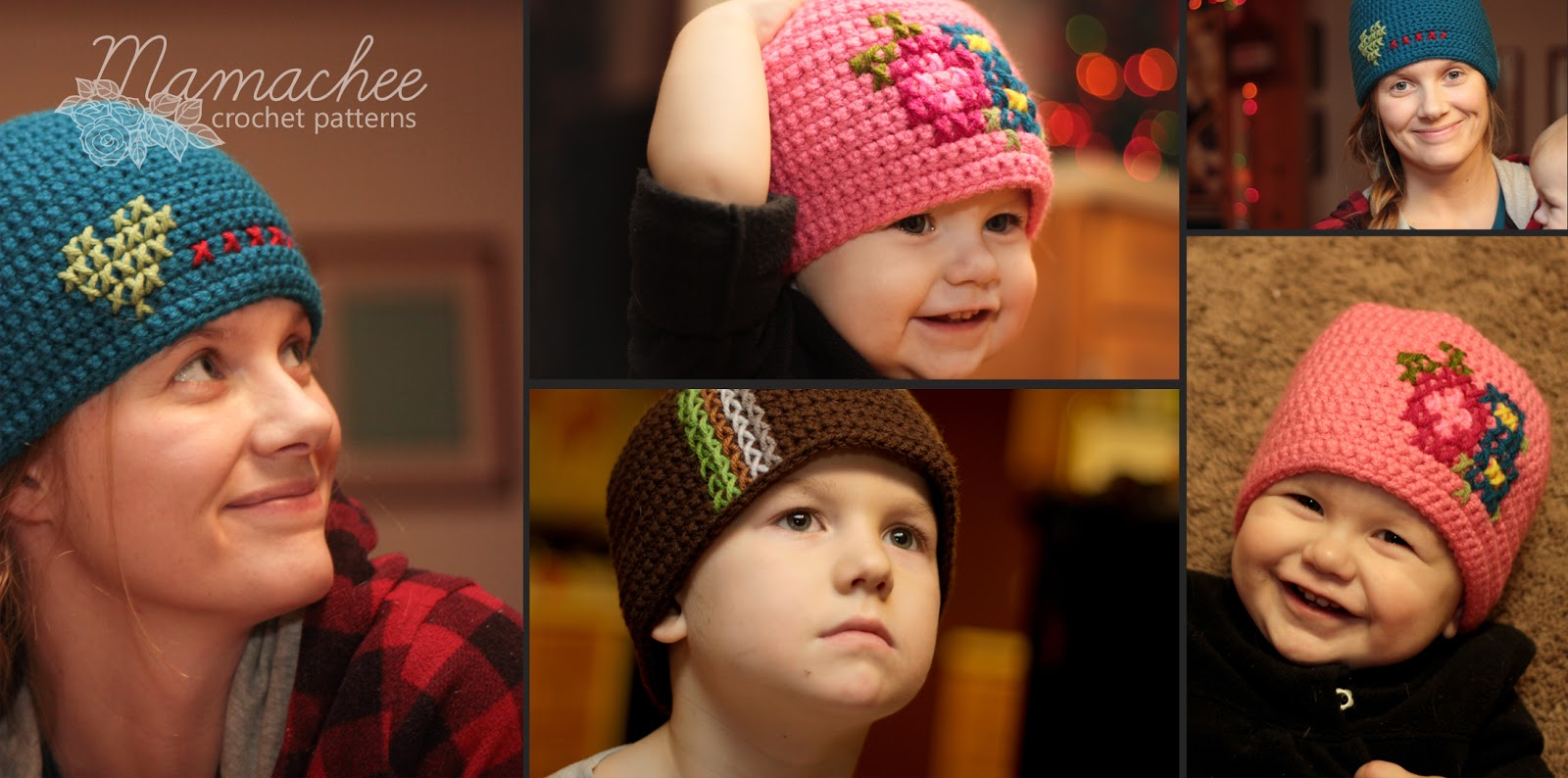 Free Crochet Pattern – Cross Stitch Hat | mamachee