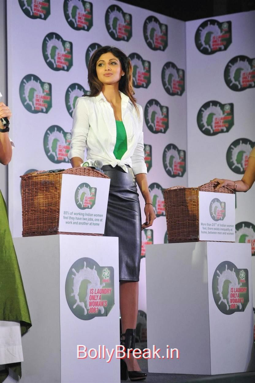 Shilpa Shetty Photo Gallery, Shilpa Shetty Hot Pics in Skirt  At Ariel Promotional Event National Survey