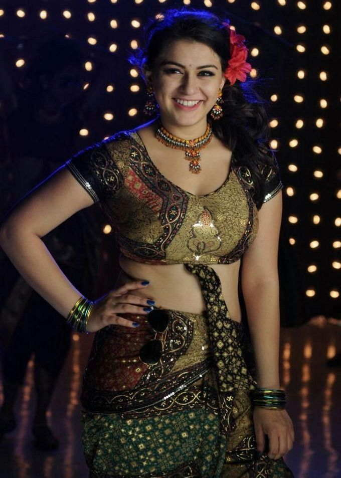 Tamil Girl Hansika Motwani Photos In Green Lehenga Choli