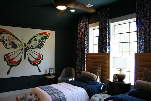 SW Dark Night in teen or kid bedroom in a cottage farmhouse in Palmetto Bluff, SC | The Lowcountry Lady