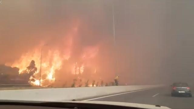 Μέσω Ναυπάκτου τα δρομολόγια του ΚΤΕΛ από Θεσπρωτία για Αθήνα λόγω της πυρκαγιάς στην Κινέτα