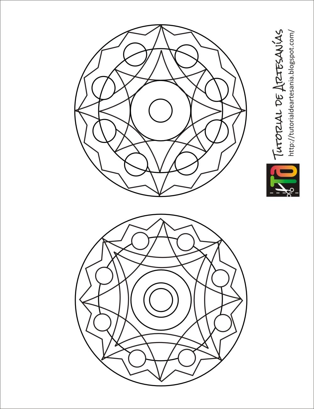 mandalas para colorear en cd