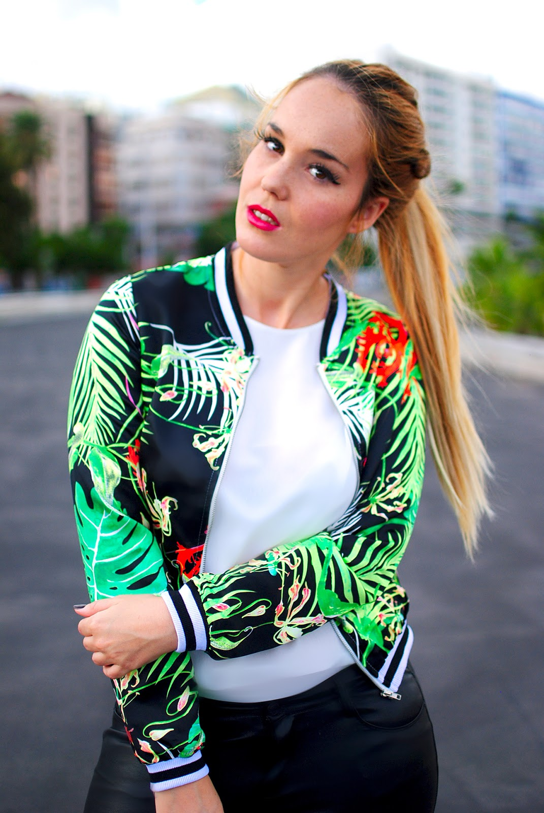 NERY HDEZ, BOMBER , beste shop, leather pant, hairtarade ,clip in extensions
