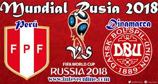 Perú vs Dinamarca en vivo
