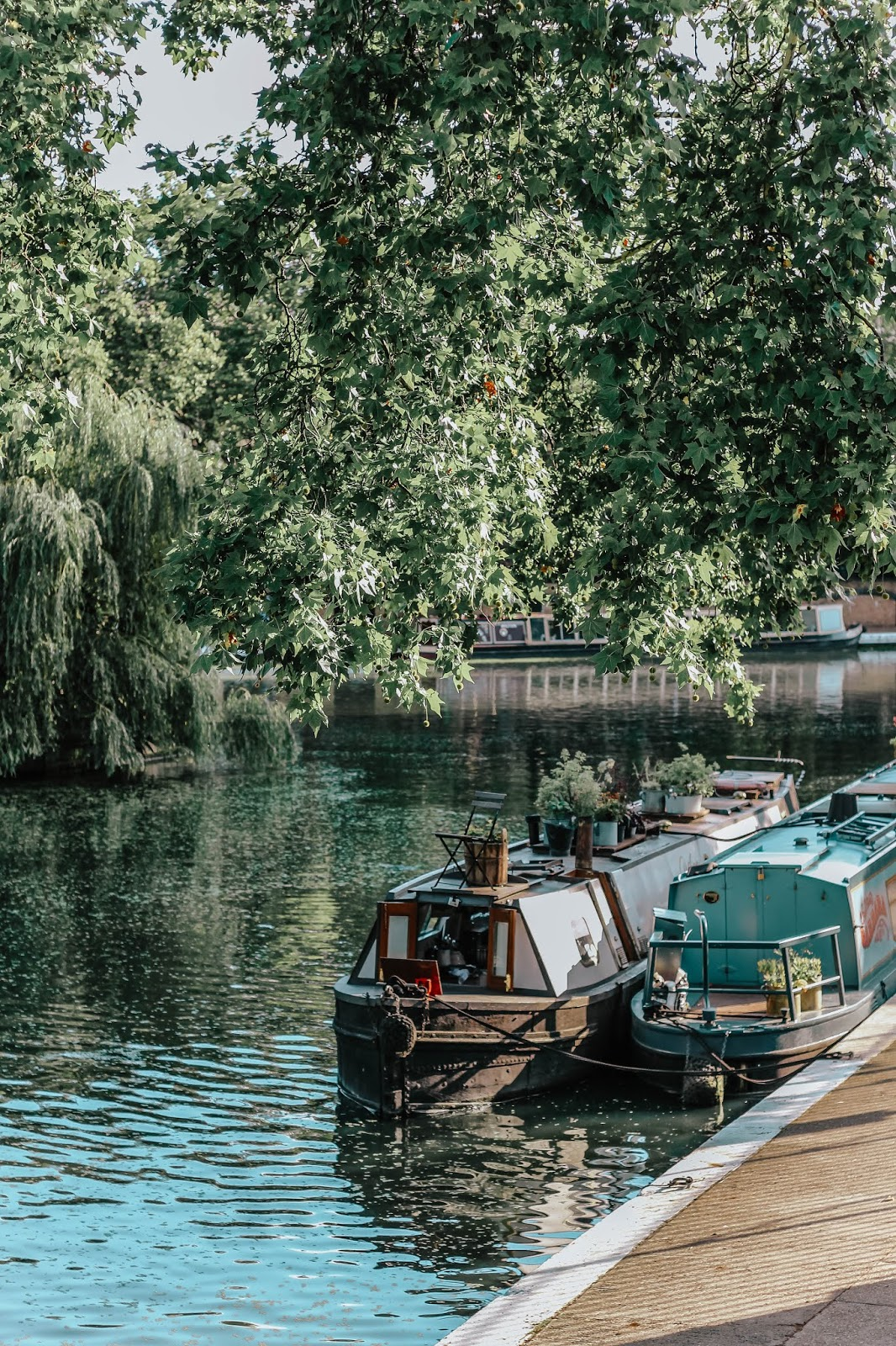 Boats on Canal Little Venice London