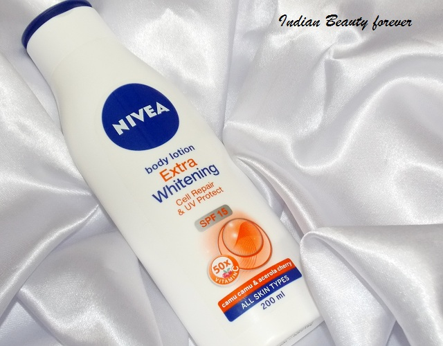Nivea Extra Whitening Body lotion cell Repair Review