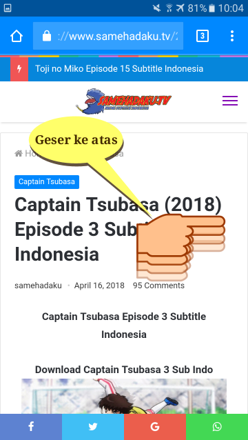 Cara Download Film Anime di Smehadaku.tv Pakai Hp Android