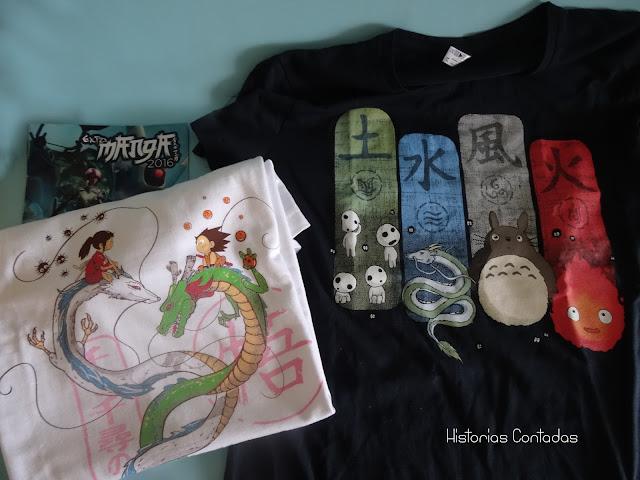 studio ghibli camisetas chihiro totoro