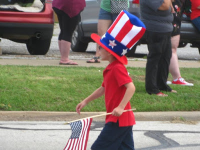 A young Uncle Sam at the The 4th of July Parade  in Wichita falls - 2016. photo  - Durango Jones