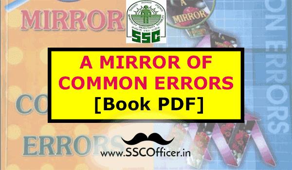Book-PDF: Mirror of Common Errors for SSC English- SSCOfficer