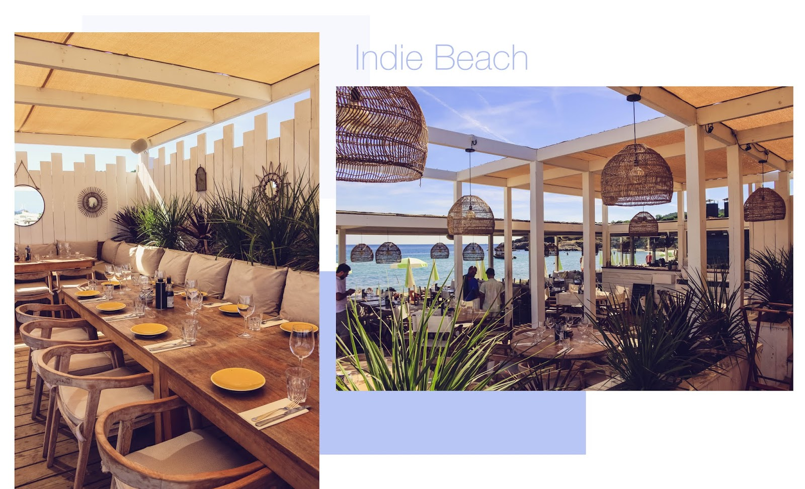Indie Beach Ramatuelle blog food