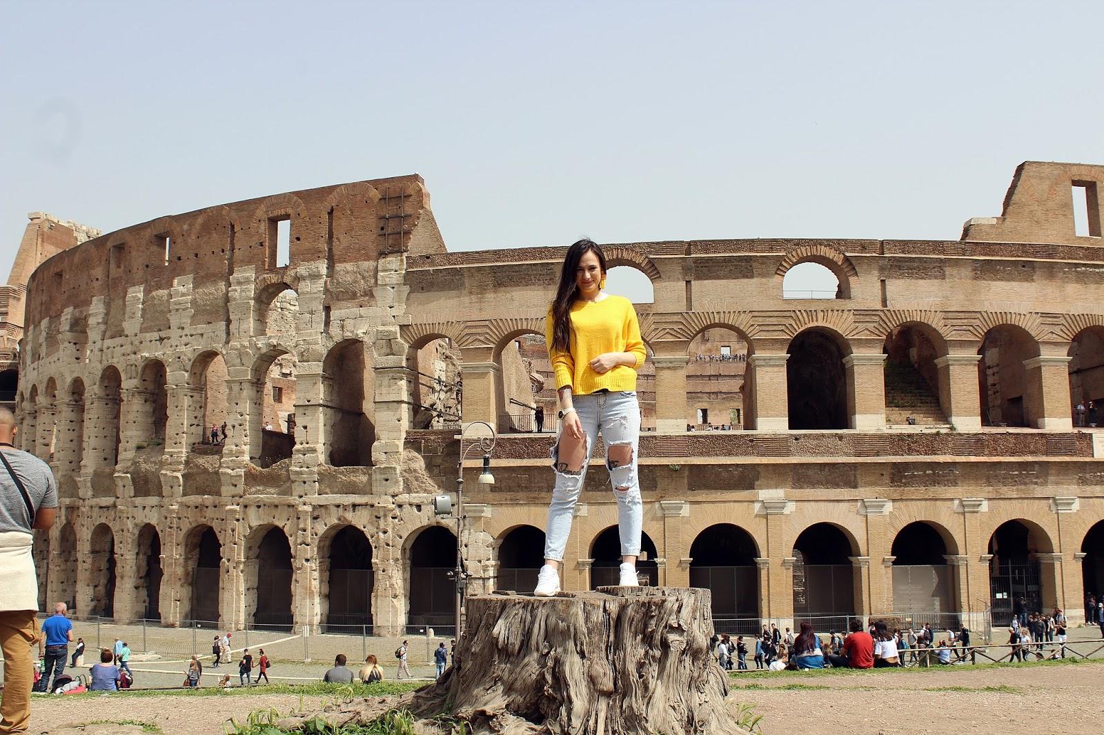 Rzym Wieczne Miasto (Koloseum ,Forum Romanum i Fontanna di Trevi)