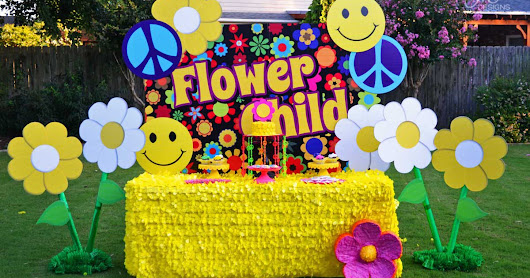 {My Parties} Flower Child Mod 1960's Birthday Party