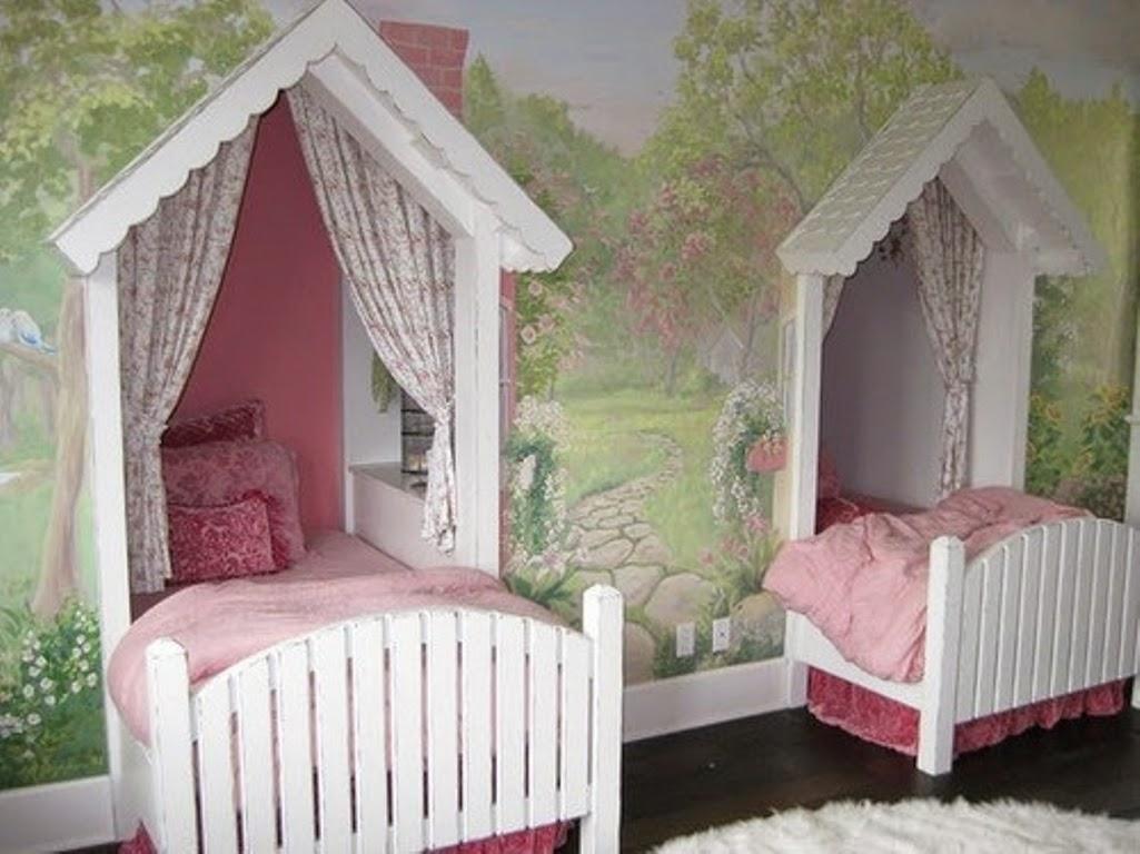 kamar tidur anak perempuan kembar | sobat interior rumah