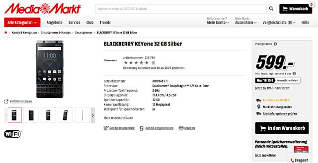 BlackBerry KEYOne MediaMarkt