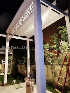Wood Pergola Gazebotropical Hut برجولات خشبيه Rose Park Egypt