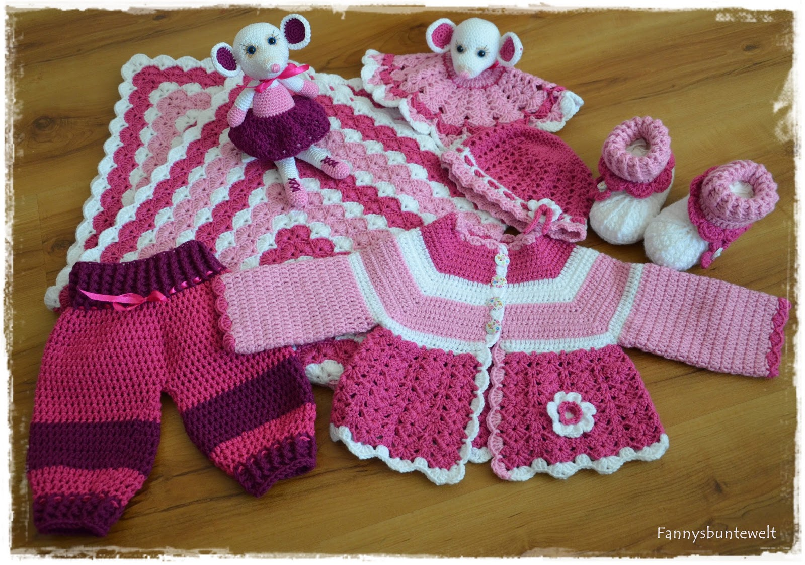 Fannysbuntewelt Babyset Thema Maus