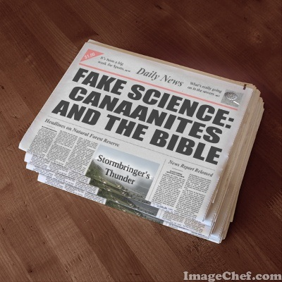 Secular science news industry lies about Bible history and Canaanites
