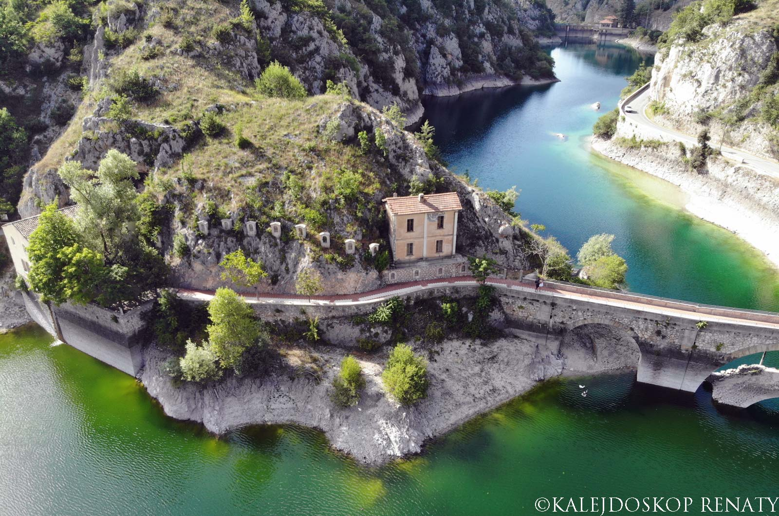 Jezioro San Domenico w Abruzji