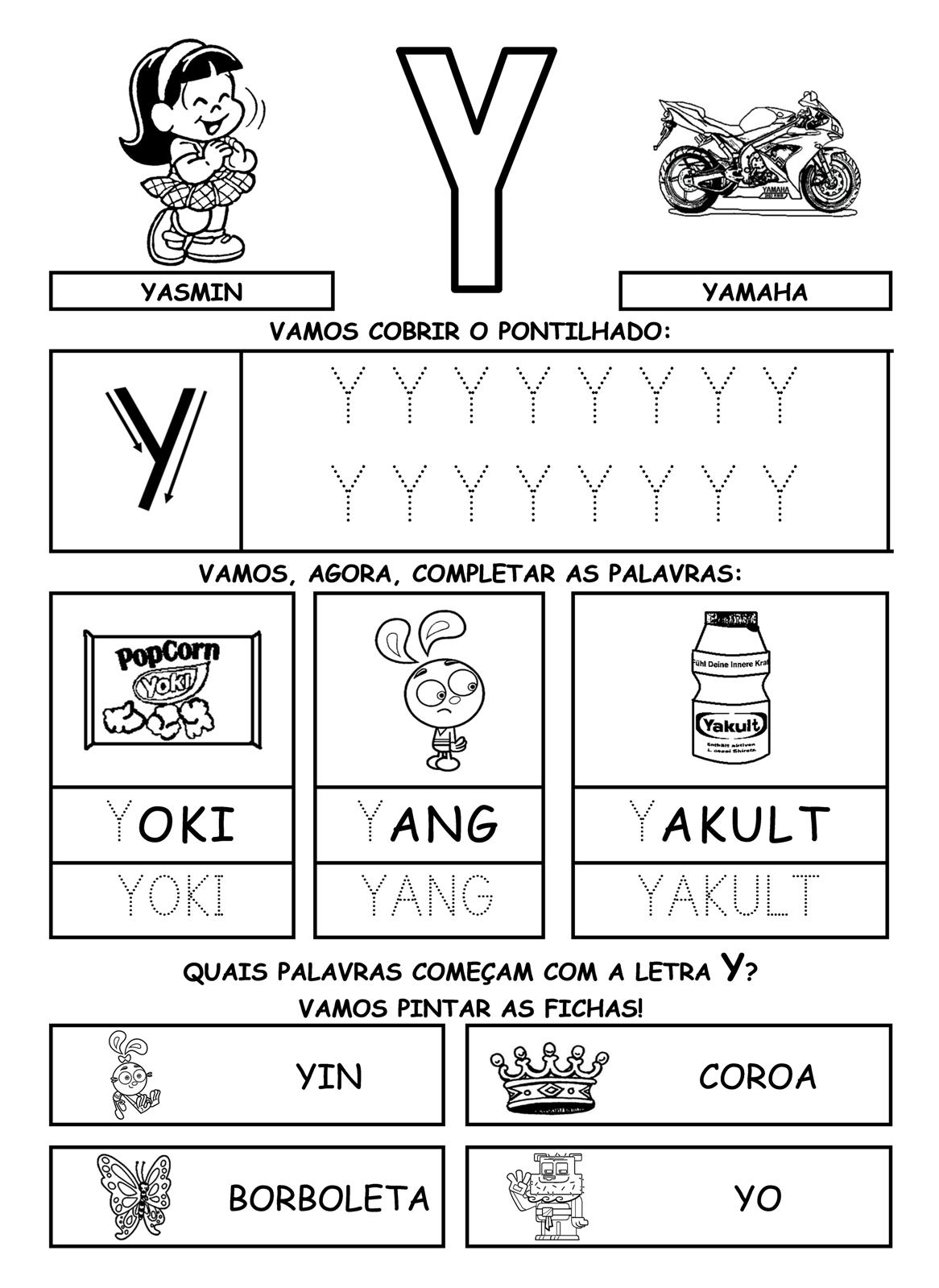 Alfabeto Ilustrado Atividades Com Silabas Cobrir Pontilhado