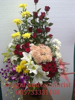 rangkaian buket bunga meja special