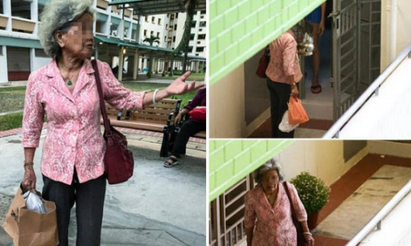 Rain or shine, a granny has been delivering food to her widowed daughter every day for the past three years.