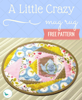 free a little crazy mug rug free pattern
