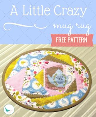 free a little crazy mug rug free pattern