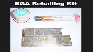 this reballing paste is used to make balls on BGA IC