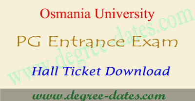 OUCET 2017 hall ticket download ou pgcet results