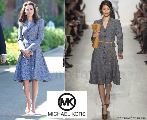Kate Middleton wore Michael Kors Dresscoat from SpringSummer 2014 collection