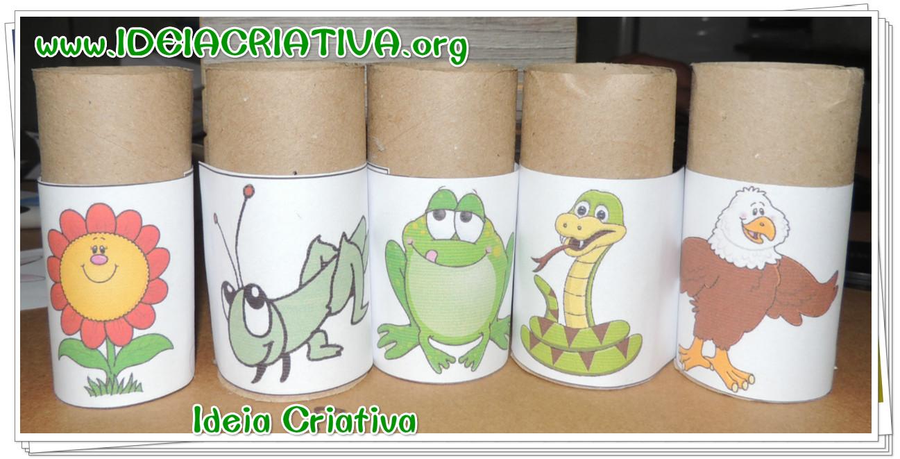 Atividade com rolo de papel higiênico Cadeia Alimentar