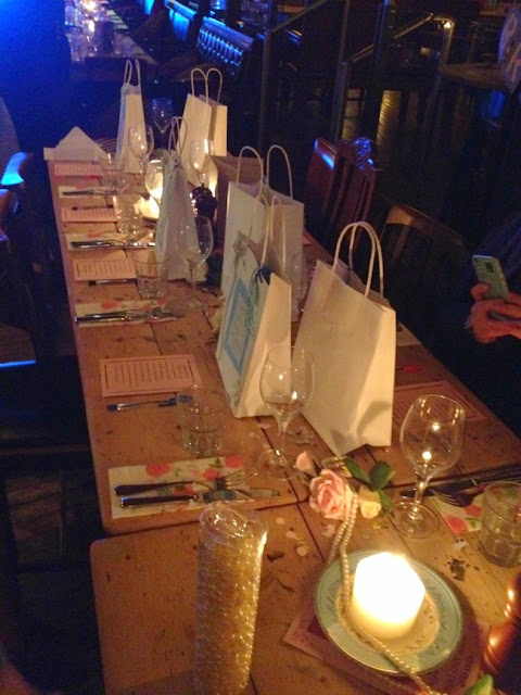 Picture of whole table with goodie bags
